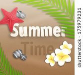 summer time. vector illustration   Shutterstock .eps vector #175979231