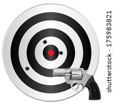 a revolver and a target with... | Shutterstock .eps vector #175983821
