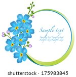 decorative frame with forget me ... | Shutterstock .eps vector #175983845