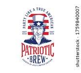 4th of july vintage craft beer... | Shutterstock .eps vector #1759840007
