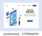 isometric landing page of... | Shutterstock .eps vector #1759846454