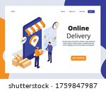 isometric landing page of...   Shutterstock .eps vector #1759847987