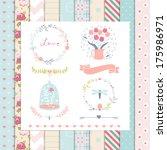 vintage design elements  rose... | Shutterstock .eps vector #175986971