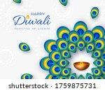 diwali festival holiday design...   Shutterstock .eps vector #1759875731