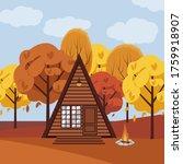 vector illustration of cabin in ...   Shutterstock .eps vector #1759918907
