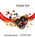music background. to see more... | Shutterstock .eps vector #17599720
