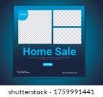 real estate sales social media... | Shutterstock .eps vector #1759991441