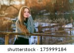 young pretty beautiful woman | Shutterstock . vector #175999184