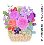 The Wicker Basket With Lilac...