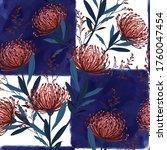 vector watercolour floral... | Shutterstock .eps vector #1760047454