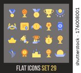 flat icons set 28   winning ...