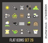 flat icons set 26   farm and...