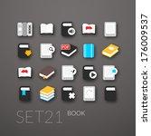 flat icons set 21   book...