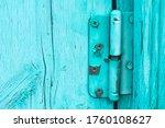 Old Door Hinge Screwed To A...