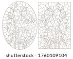 a set of contour illustrations... | Shutterstock .eps vector #1760109104