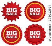 big sale sign icon. special... | Shutterstock .eps vector #176013914