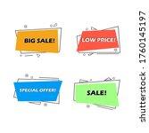 flat linear promotion ribbon... | Shutterstock .eps vector #1760145197