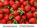 fresh ripe strawberries ... | Shutterstock . vector #1760156444