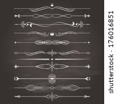 vector retro divider set on... | Shutterstock .eps vector #176016851