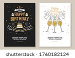 happy birthday to you. stamp ... | Shutterstock .eps vector #1760182124