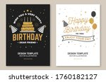 wish you a very happy birthday... | Shutterstock .eps vector #1760182127
