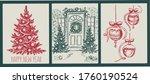 christmas pattern in sketch...   Shutterstock .eps vector #1760190524