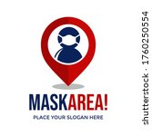 mask area vector logo template. ... | Shutterstock .eps vector #1760250554