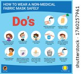 infographic about how to wear a ... | Shutterstock .eps vector #1760257961