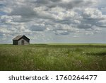 A Landscape Picture With An Old ...