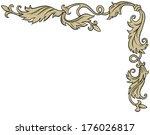 vintage ornament frame in retro ... | Shutterstock .eps vector #176026817