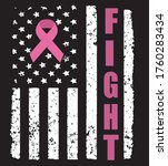 american flag with cancer fight ... | Shutterstock .eps vector #1760283434