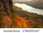 High Angle View Of A Cliff And...