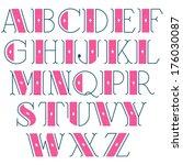 elegant vector retro font   Shutterstock .eps vector #176030087