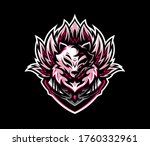 kitsune with nine tails esport... | Shutterstock .eps vector #1760332961
