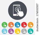 touch screen smartphone sign...   Shutterstock .eps vector #176033507