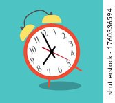 alarm clock red wake up time... | Shutterstock .eps vector #1760336594
