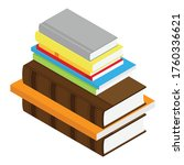 stack of books isometric view... | Shutterstock .eps vector #1760336621