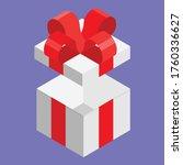 surprise gift box. vector.... | Shutterstock .eps vector #1760336627