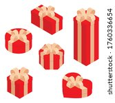 gift boxes  presents isolated... | Shutterstock .eps vector #1760336654