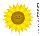 Funny Sunflower In Cartoon...