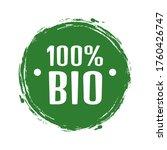 set of bio natural food. leiba... | Shutterstock .eps vector #1760426747