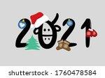 "Vector Hand Lettering ""2021"" In ..."
