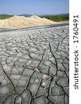 muddy volcano landscape romania | Shutterstock . vector #1760491