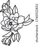 flower illustration art work... | Shutterstock .eps vector #1760522831