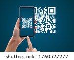 Hand Using Mobile Smart Phone...
