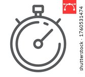 stopwatch line icon  fitness...   Shutterstock .eps vector #1760531474
