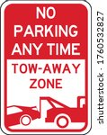 No Parking Any Time  Tow Away...