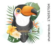 Cute Little Toucan With...