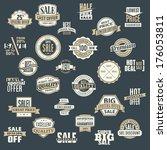 banner promotion logo buy... | Shutterstock .eps vector #176053811
