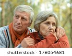 friendly mature couple spending ... | Shutterstock . vector #176054681